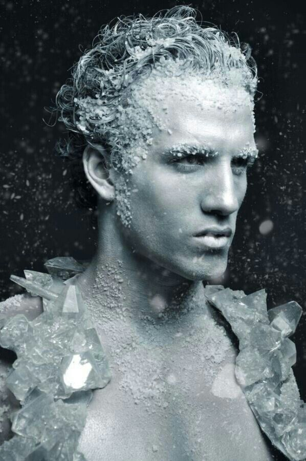 (The ice crystals move with him like hairs in fur and make a crinkling noise. The face is eh but cool concept)