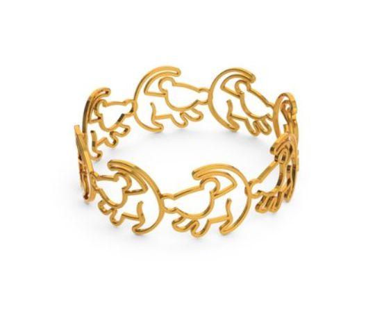 30 Disney Accessories for the Minimalist | The Lion King inspired Simba Outline Bracelet