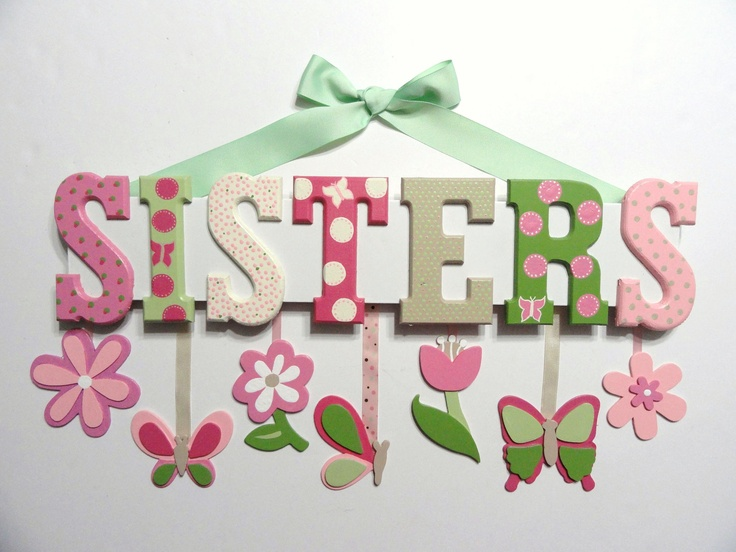 Personalized Wall Hangings 89 best girl bedroom decoration images on pinterest | girl bedroom