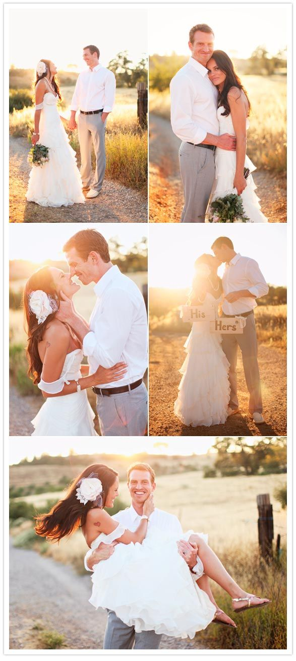 cute shots for the bride and groom