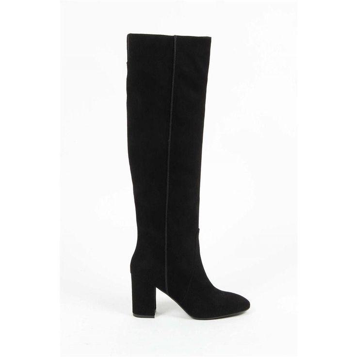 Black 37 IT - 7 US Versace 19.69 Abbigliamento Sportivo Srl Milano Italia High Boot G051X CAMOSCIO NERO
