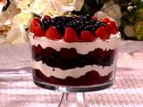 patriotic trifle - this version uses red velvet cake - yummy