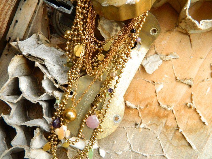 Arrow and Planet necklaces. Natanè, jewels, necklaces, semiprecious stones