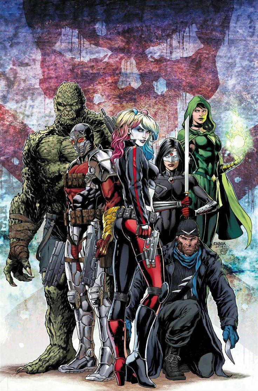 Suicide Squad: Killer Croc, Deadshot, Harley Quinn, Katana, Captain Boomerang & Enchantress by Jason Fabok (DC)