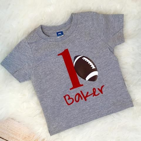 1st Birthday Sports Theme First Birthday Soccer Baseball Basketball Football Number custom tee infant bodysuit toddler shirt ANY SIZE