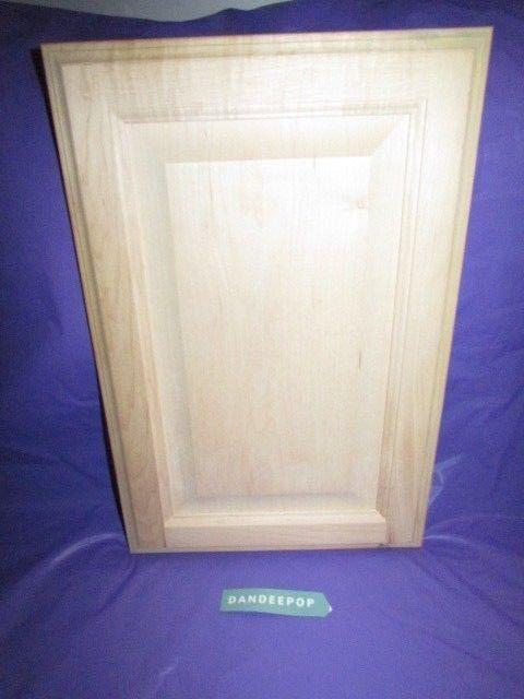 Maple Unfinished Stain Grade Kitchen Cabinet Raised Panel Door 11 7/8 x 17 7/8 #cabinets #kitchen #kitchencabinets #cabinetdoors #wooddoors #wood #maple #unfinished #raisedpanel #dandeepop Find me at dandeepop.com