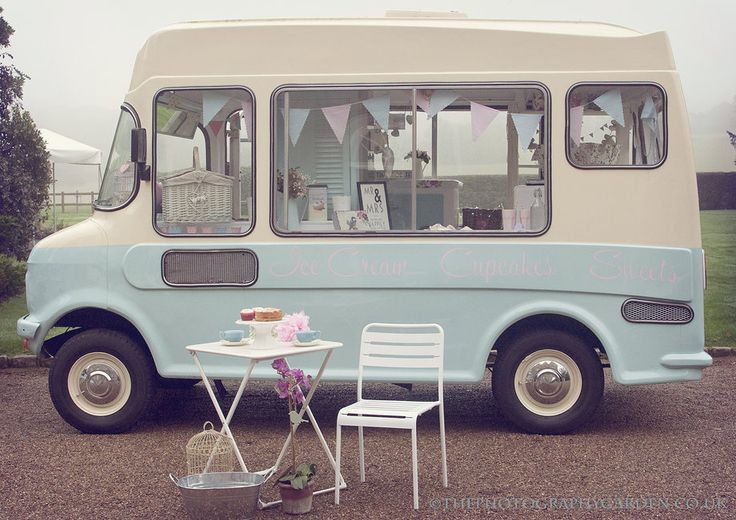 Bluebelle the vintage ice cream van, ice cream van hire UK