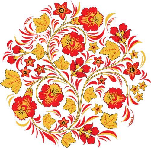 Khokhloma patterns