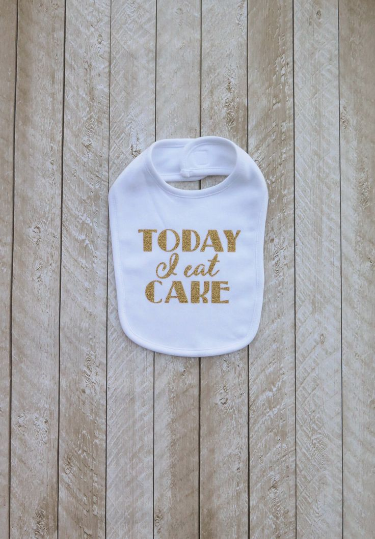 First birthday white and gold First birthday black and gold Smash cake outfit boy Smash cake outfit girl Today I eat cake bib by SweetPeaCharlies on Etsy