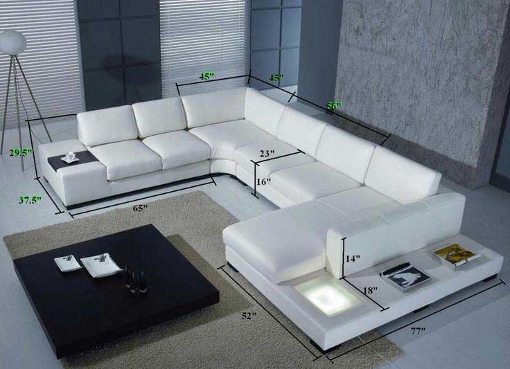 T35 White Leather Sectional Sofa | Leather Sectionals