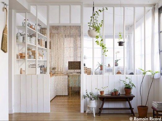 #Cloison en #verre pour laisser rentrer lSandrine Pigeon et ses menus objets : Atelier Home Made