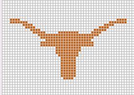 Journey by Crochet Blog: Texas Longhorn Crochet Graph Pattern