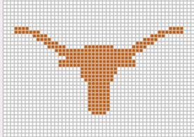 Journey by Crochet Blog: Texas Longhorn Crochet Graph Pattern