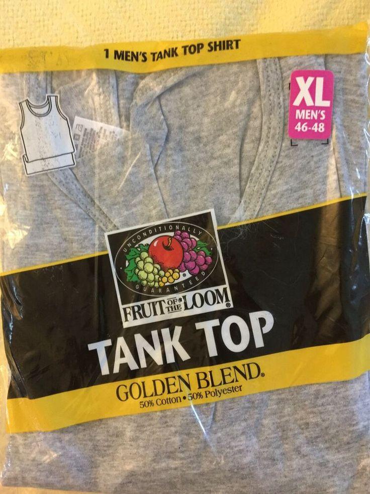 Vintage Fruit Of The Loom Golden Blend Heather Gray Tank