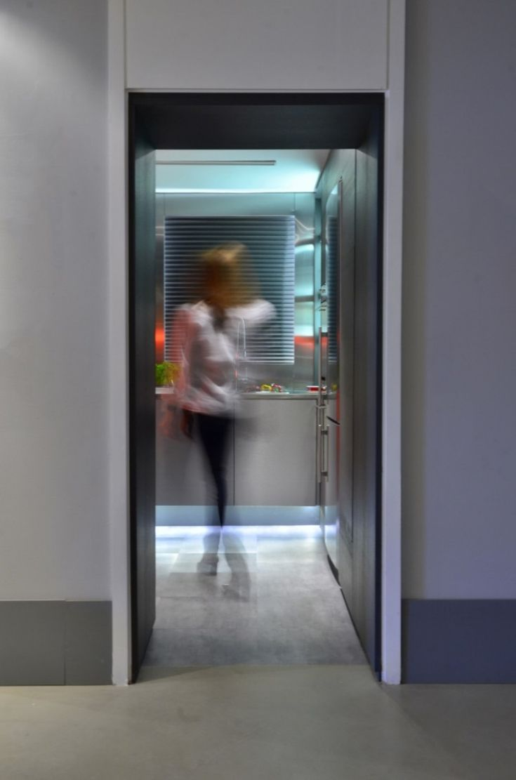 Kitchen, Black Wall Colored In The Kitchen Entrance Without Door Idea With  Cool Urban Art Part 49