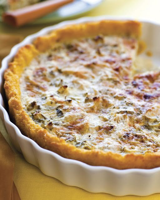 Artichoke Rosemary Tart with Parmesan and Goat Cheese More