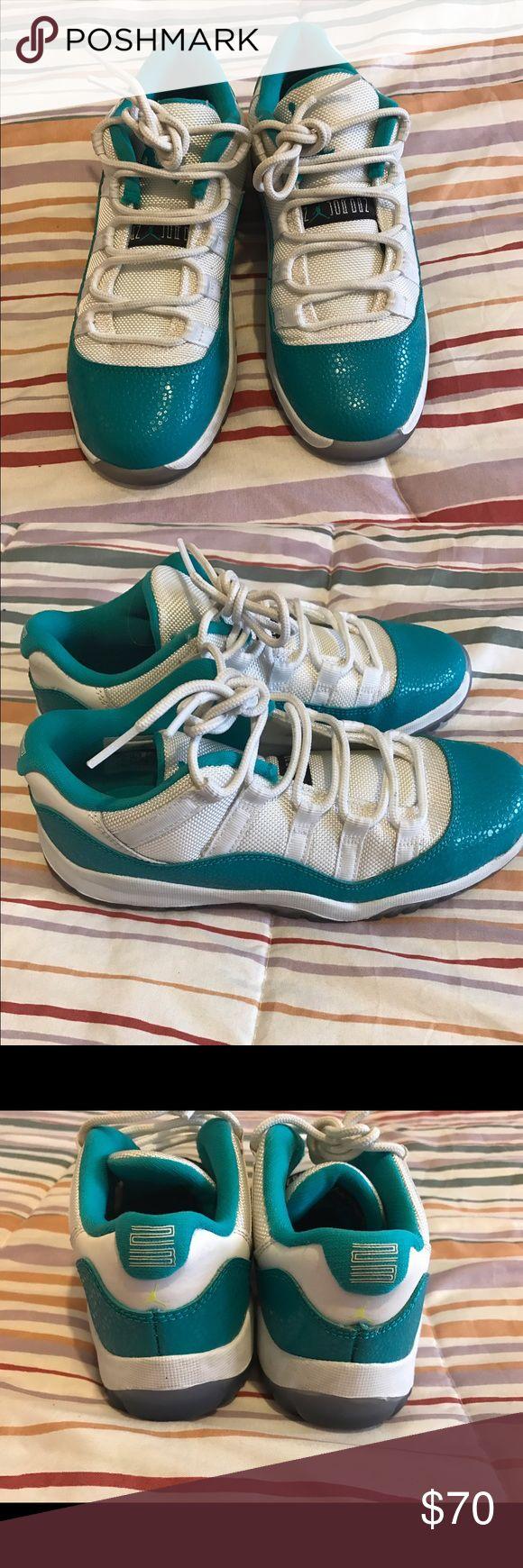 Aqua Jordan Low 11s Size 2 Used only twice. No box. Size 2 Jordan Shoes Sneakers