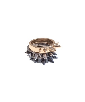 Metallic Spike Trio Stack Ring | New Look