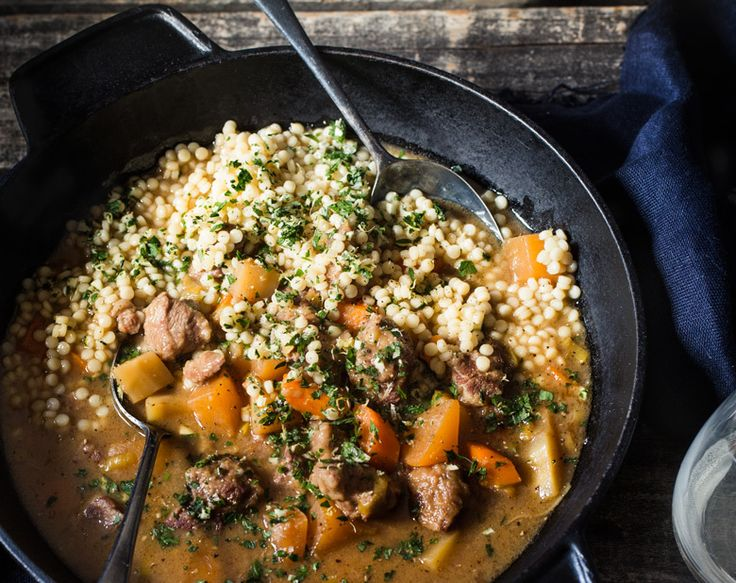 One-pot Lamb with Winter Roots & Israeli Couscous Recipe | Beef + Lamb New Zealand