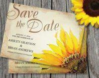 Wedding invitations rustic sunflower save the date 30 Ideas
