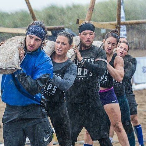 The wettest day since records began!  True story!  It takes a certain kind of crazy to keep up momentum and grind through a day of competition in this type of weather. But we sure had fun along the way.... and thats what its all about! @tribalclash Portugal never looked soooo appealing   #edccrossfit #crossfit #crossfitgirl #crossfitter #crossfitcompetition #rain #rain #morerain #weathermanwaspissed