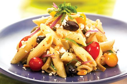 Looking for a quick and easy dish to make for dinner? Penne Mediterranean Delight Salad can be made in 25 minutes or less and you can use some of those fresh garden tomatoes! Tomatoes are delicious and loaded with antioxidants like lycopene. Studies have shown lycopene can help your body's natural defense against cancer!