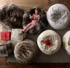 Кресло-мешок Luxe faux fur