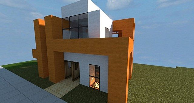 Small modern house minecraft project nerd alert for Minecraft modern house 7x7