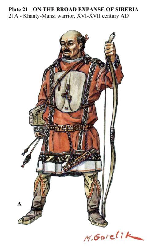 Khanty-Mansi warrior, 16th-17th century