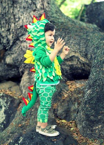 dragon costume - fairly simple, and super adorable!