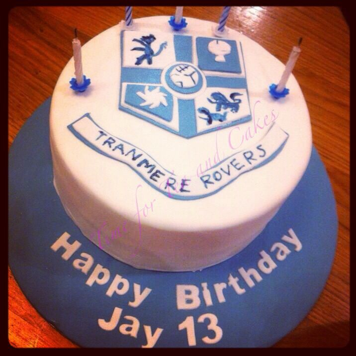 Tranmere Rovers football club cake xx