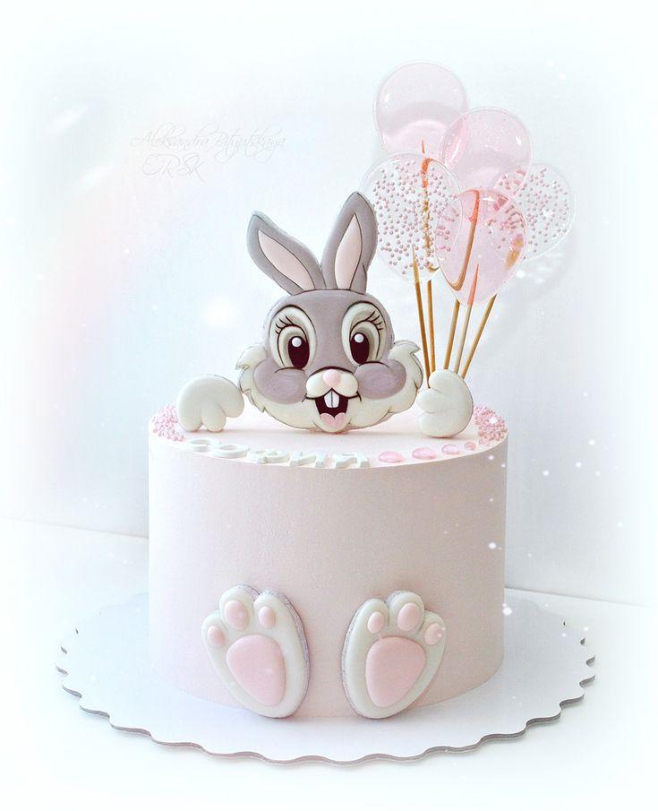 торт зайчик картинка счастливы