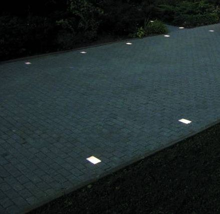 Solar light ideas flush mounted driveway lighting for In ground landscape lighting fixtures