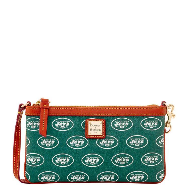 Game Day Necessity! NFL Jets Large Slim Wristlet