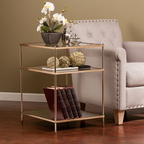 Bring The Roaring To Life With This Opulently Simple Side Table. The  Minimalist Architecture Contrasts With The Luxurious, Metallic Gold Frame,  ...