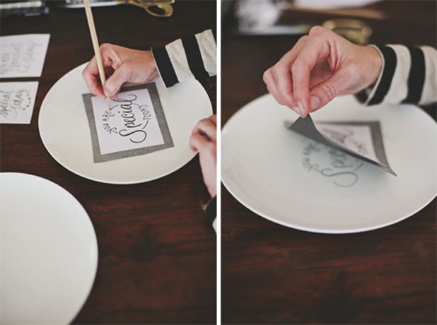 YouAreSpecialPlate-Step5and6 / use porcelain pen and bake to set as instructed