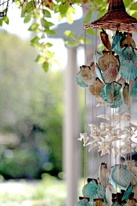 sounds from the sea: Forests, Sea Shells, Seashells Wind Chimes, Windchimes, Coastal Living, Beaches Houses, Ocean Bathroom, Beachhous, Mobile