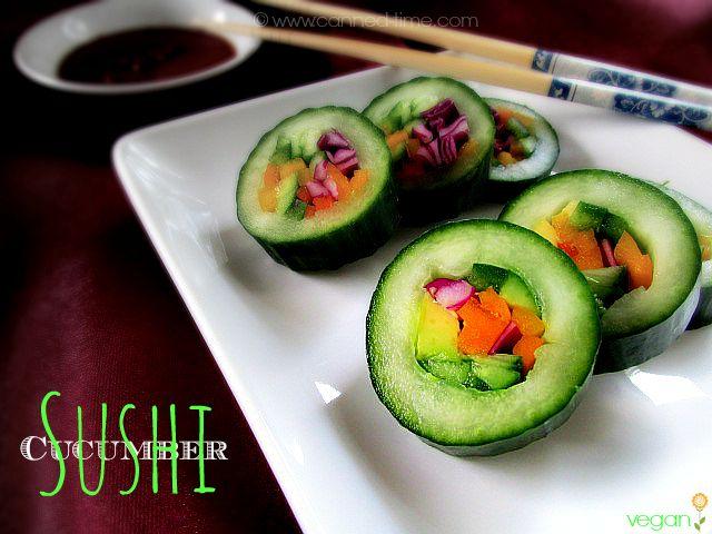 Cucumber Sushi (raw vegan)