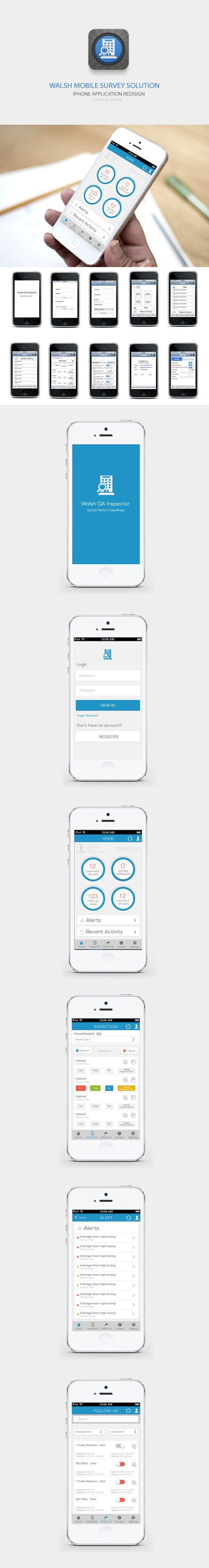 Inspector App for Iphone Ios7 Style by Pq Z, via Behance *** #app #gui #ui #behance