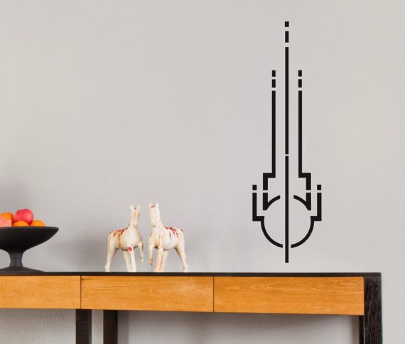 Art Deco Symbol 1 ... Vinyl Wall Decal by DecalsForAll on Etsy