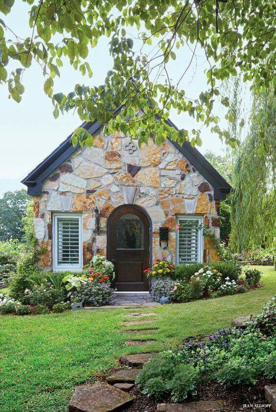 Stone garden shed or cottage