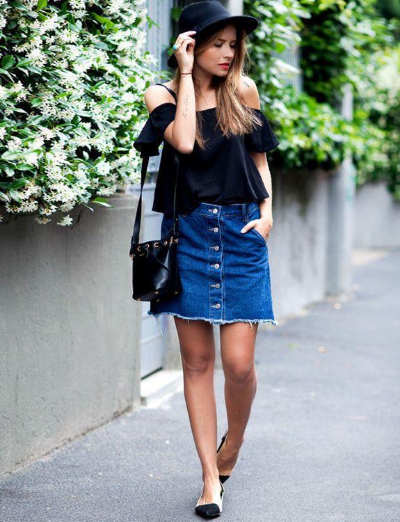 джинсовая юбка трапеция - Поиск в Google
