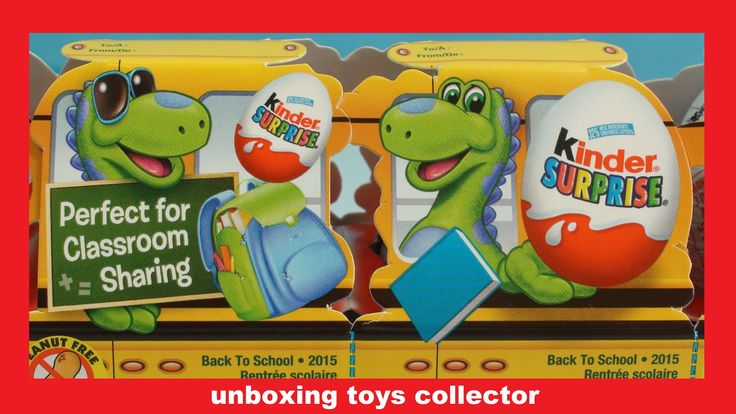 Back to School Kinder Surprise Eggs Funtoys Review of Crocodile Swampy i...