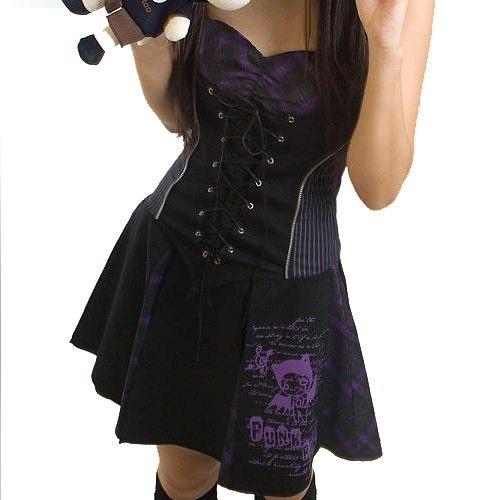 Vestido Punk gótico