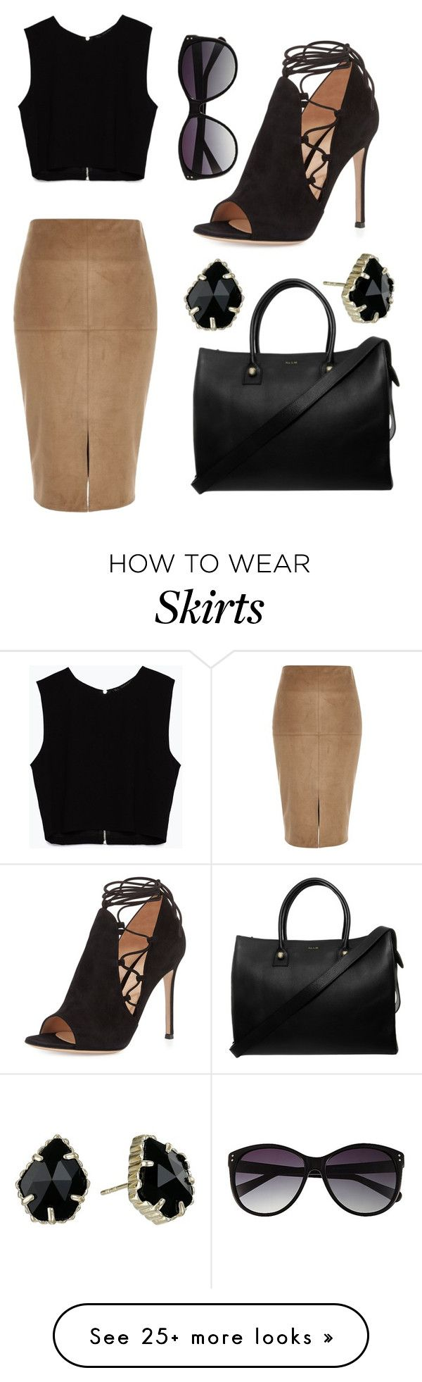 """Look #34"" by mode-noir on Polyvore featuring River Island, Gianvito Rossi, Zara, Paul & Joe, Vince Camuto and Kendra Scott"