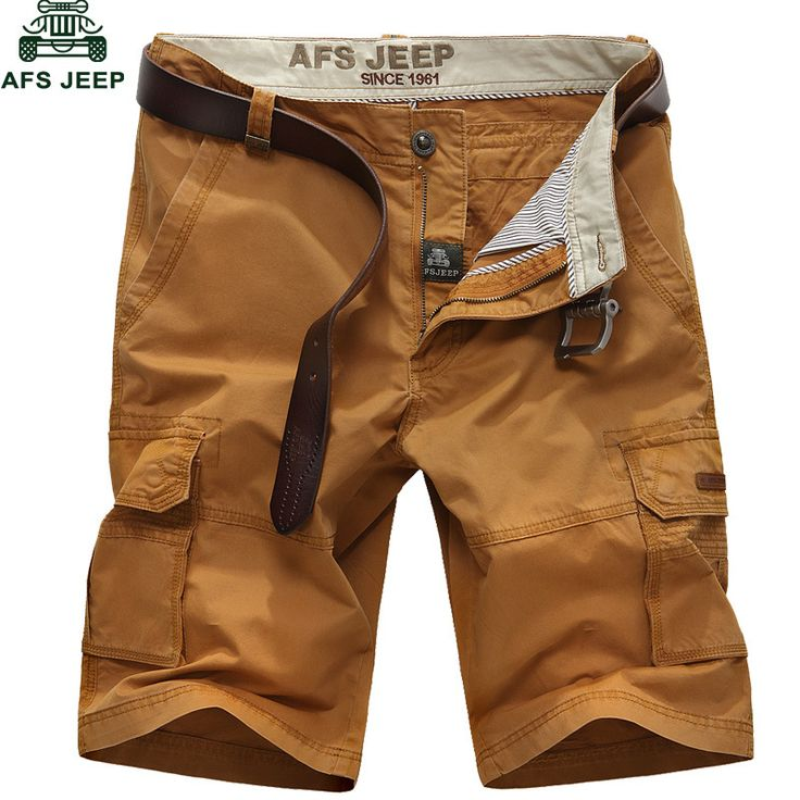 AFS jeep Summer Mens Shorts Homme Casual Fashion Cotton Cargo Shorts moletom masculino Multi-pockets bermuda masculina Men Short