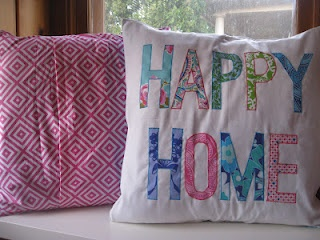 Happy Home custom pillow (craftionary feature)