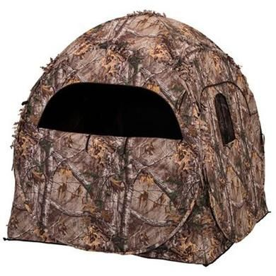 Ameristep Hunting Doghouse Camo Ground Blind, Weather resistant Realtree, 60 x 60 x 66-In
