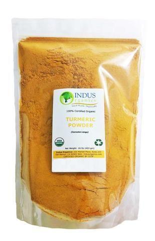 Indus Organic Turmeric (Curcumin) Powder, High Purity, Freshly Packed