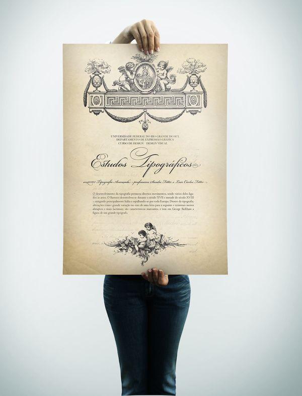 Baroque Type - Tipografia Barroca by Guilherme Haupenthal, via Behance